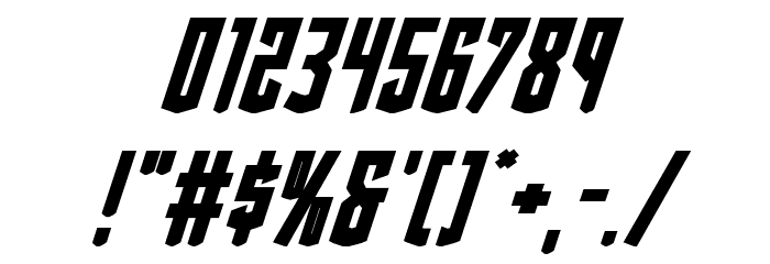 Viceroy of Deacons Bold Italic Font OTHER CHARS