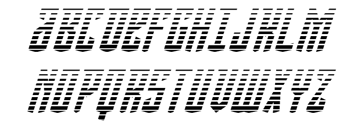 Viceroy of Deacons Gradient Italic Font UPPERCASE