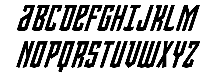 Viceroy of Deacons Italic Font UPPERCASE