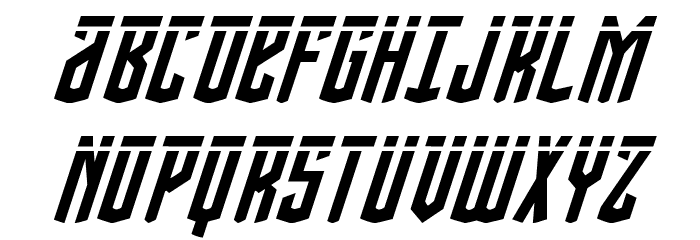 Viceroy of Deacons Laser Italic Font UPPERCASE