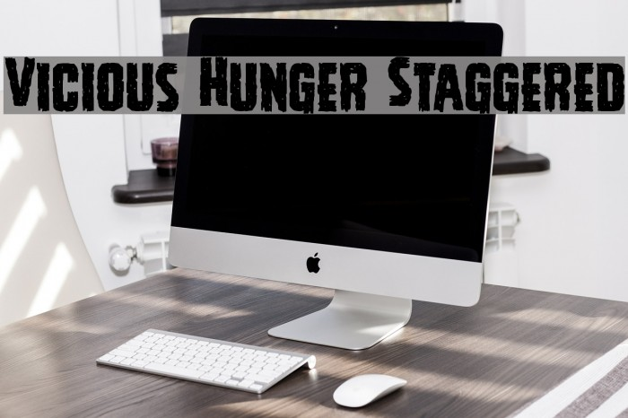 Vicious Hunger Staggered Font examples