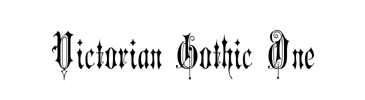 Victorian Gothic One Font - free fonts download