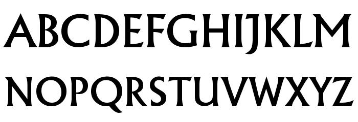 Village Font UPPERCASE