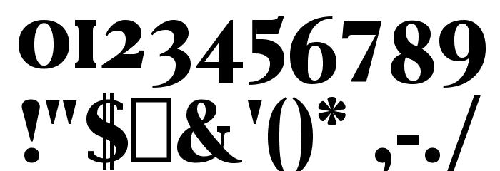 Vincentio Regular Font OTHER CHARS