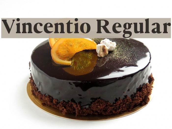 Vincentio Regular Font examples