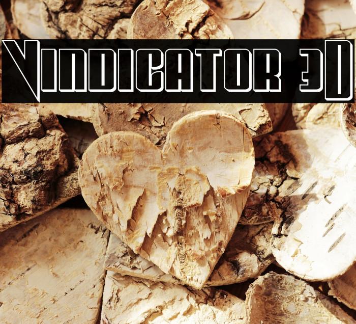 Vindicator 3D फ़ॉन्ट examples