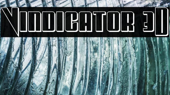 Vindicator 3D Font examples