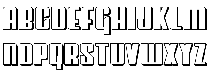 Vindicator 3D Font LOWERCASE