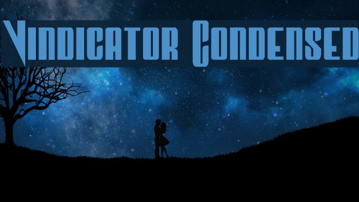 Vindicator Condensed Font examples