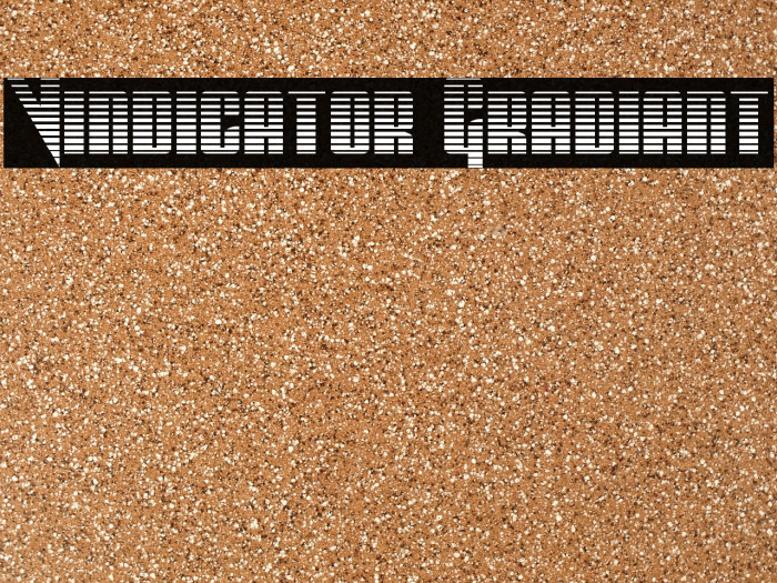 Vindicator Gradiant फ़ॉन्ट examples