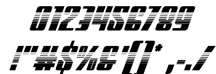 Vindicator Halftone Italic Font Alte caractere