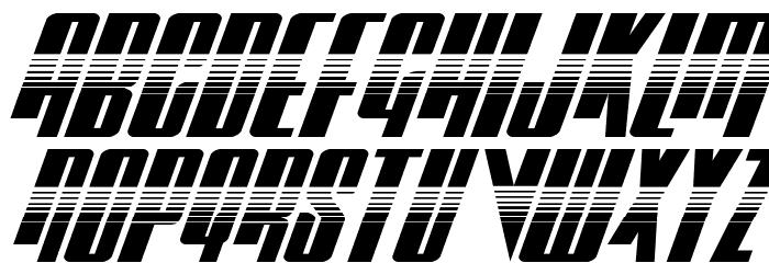 Vindicator Halftone Italic Schriftart Groß