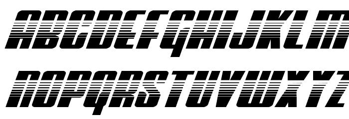 Vindicator Halftone Italic Schriftart Kleinbuchstaben