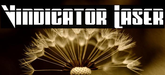 Vindicator Laser フォント examples