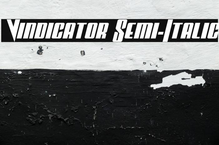 Vindicator Semi-Italic Fuentes examples