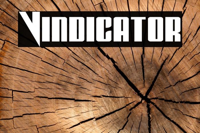 Vindicator Schriftart examples