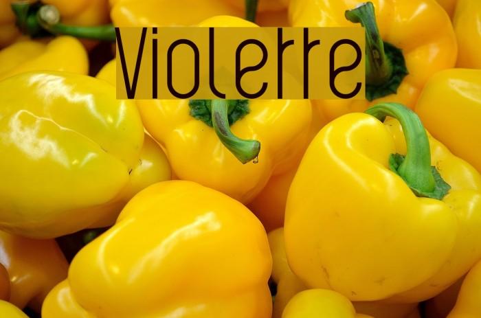 Violette Font examples