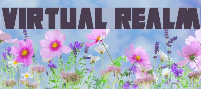 Virtual Realm Font examples