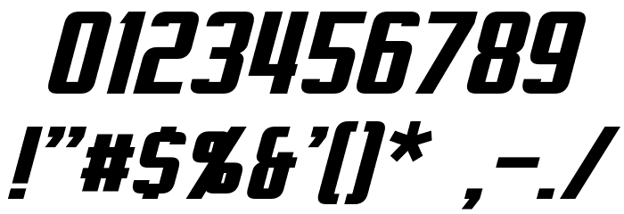 Virtucorp Italic Font OTHER CHARS