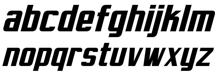 Virtucorp Italic Font LOWERCASE