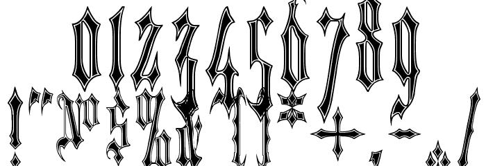 VladTepes II [Vlads Dad] Font OTHER CHARS