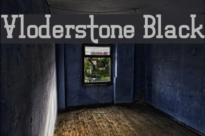 Vloderstone Black Fonte examples