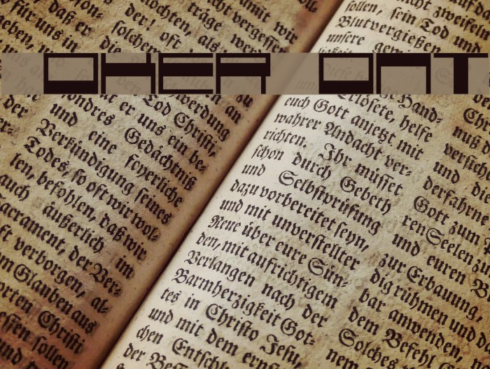 Voker Font examples