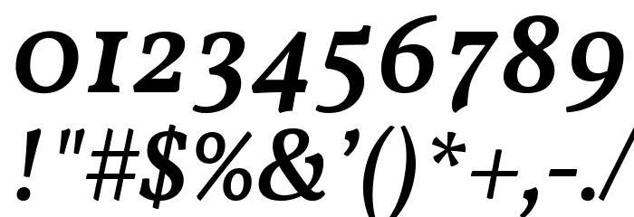 Vollkorn Medium Italic Fuentes OTROS CHARS