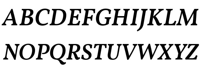 Vollkorn Medium Italic Fuentes MAYÚSCULAS