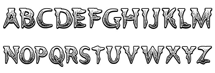 Voodoo Vampire Font UPPERCASE