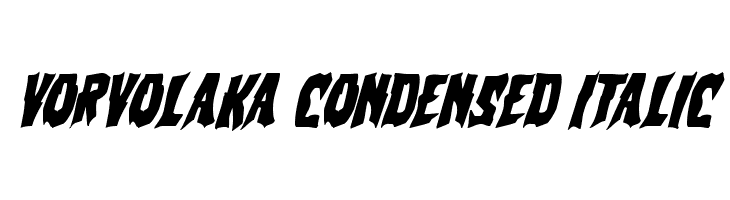 Vorvolaka Condensed Italic  Free Fonts Download