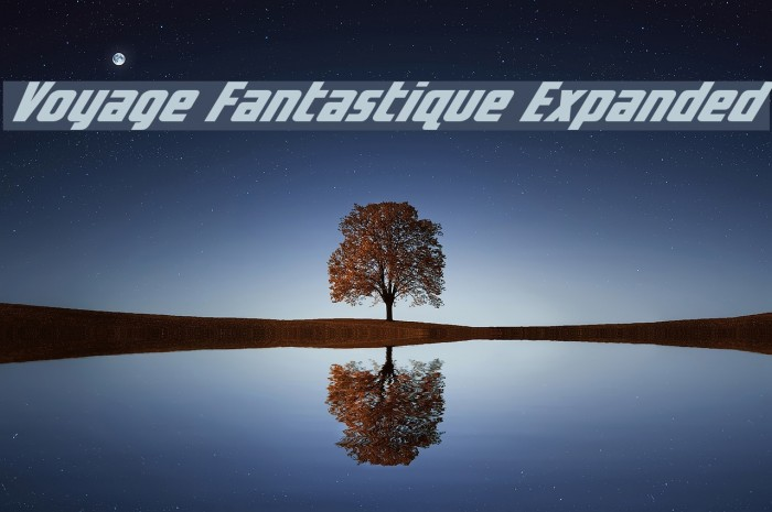 Voyage Fantastique Expanded Font examples