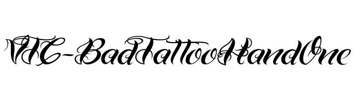 VTC-BadTattooHandOne  Скачать бесплатные шрифты