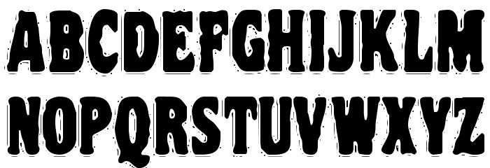 VTC NightOfTheDrippyDeadCaps Font UPPERCASE