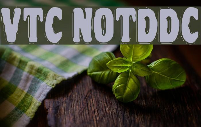 VTC NightOfTheDrippyDeadCaps Font examples