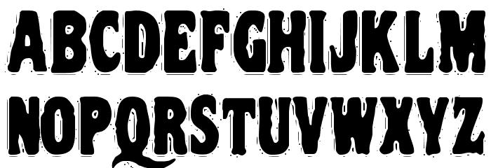 VTC NightOfTheDrippyDeadCaps Font LOWERCASE