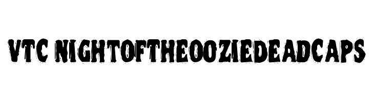 VTC NightOfTheOozieDeadCaps  Free Fonts Download