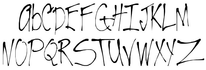 VTC-RoughedUp Thin Font UPPERCASE