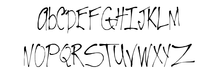 VTC-RoughedUp Thin Font LOWERCASE