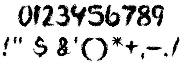 VTCAllSkratchedUpOne Font OTHER CHARS