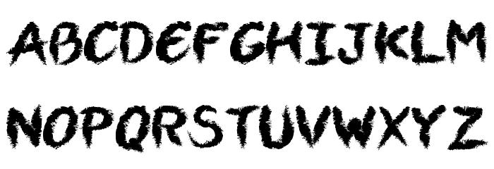 VTCAllSkratchedUpOne Font UPPERCASE