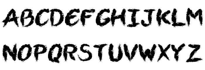 VTCAllSkratchedUpOne Font LOWERCASE