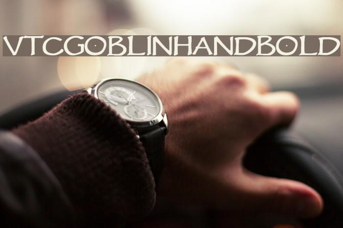 VTCGoblinHandBold Font examples