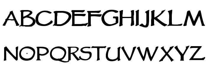 VTCGoblinHandBold Font LOWERCASE
