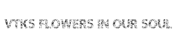 VTKS FLOWERS IN OUR SOUL  Free Fonts Download