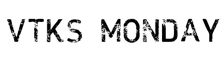 VTKS MONDAY Schriftart