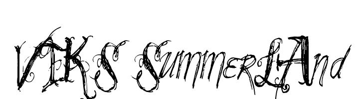 VTKS SummerLAnd Schriftart