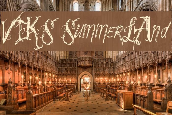 VTKS SummerLAnd Schriftart examples