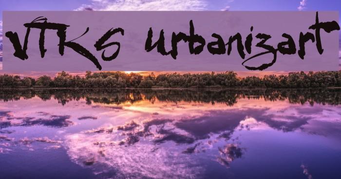 VTKS Urbanizart Font examples