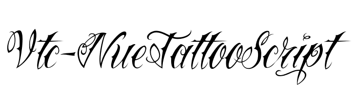 Vtc-NueTattooScript  नि: शुल्क फ़ॉन्ट्स डाउनलोड